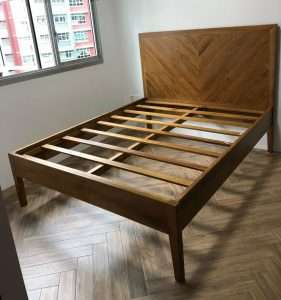 Teak wood bed by Collectif Designs