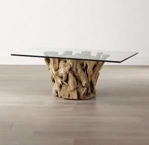 Teak wood coffee table by Collectif Designs