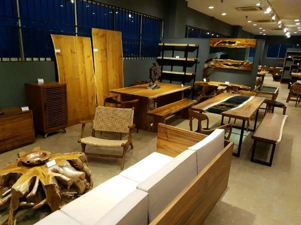 Suar wood furniture, Teak wood furniture and other solid wood furniture manufactured by Collectif Designs in Singapore