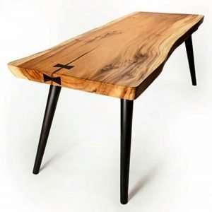 Suar wood desk by Collectif Designs