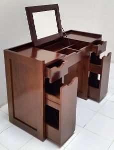 Teak wood desk by Collectif Designs