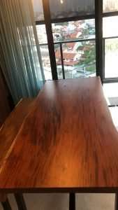 Mahogany wood table by Collectif Designs delivered to client in Singapore