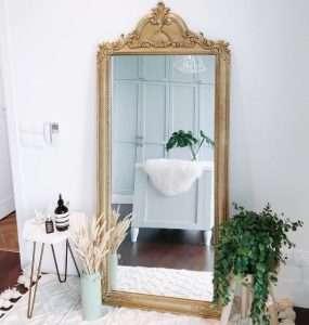 Teak wood mirror by Collectif Designs