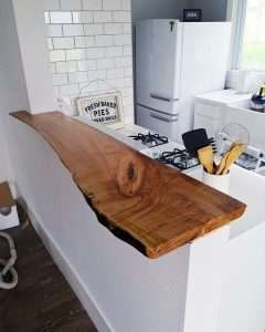 Teak wood countertop by Collectif Designs