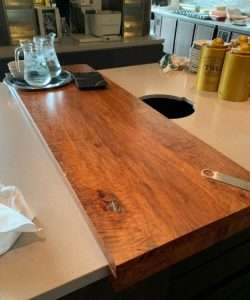 Lychee wood countertop by Collectif Designs