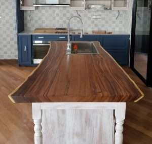 Suar wood countertop by Collectif Designs