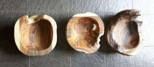 Sono wood fruit bowl by Collectif Designs delivered to client in Singapore