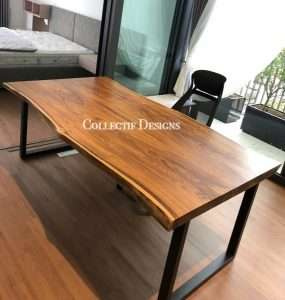 Sono wood table by Collectif Designs delivered to client in Singapore