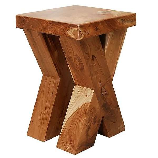 Suar wood stool by Collectif Designs