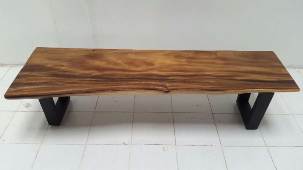 Suar wood bench by Collectif Designs