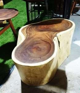 Suar wood coffee table by Collectif Designs delivered to client in Singapore