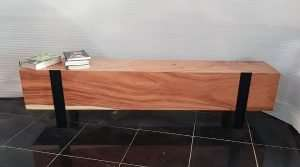 Suar wood bench by Collectif Designs delivered to client in Singapore