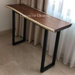 Suar wood table by Collectif Designs delivered to client in Singapore