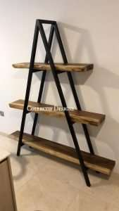Suar wood bookshelf by Collectif Designs delivered to client in Singapore