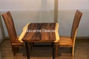 Suar wood table and Suar wood chair by Collectif Designs delivered to client in Singapore