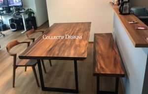 Rain tree table and Rain tree bench by Collecitf Designs delivered in Singapore