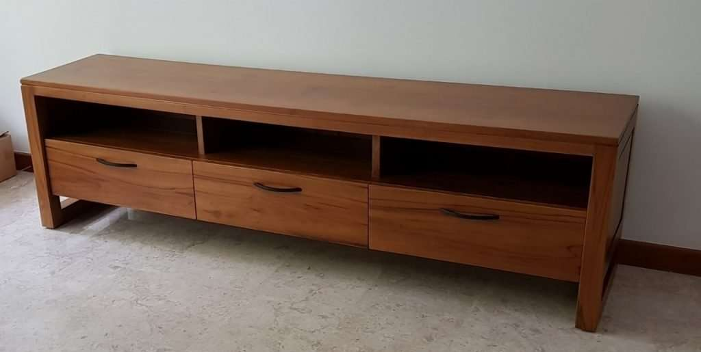 Teak wood TV console by Collectif Designs