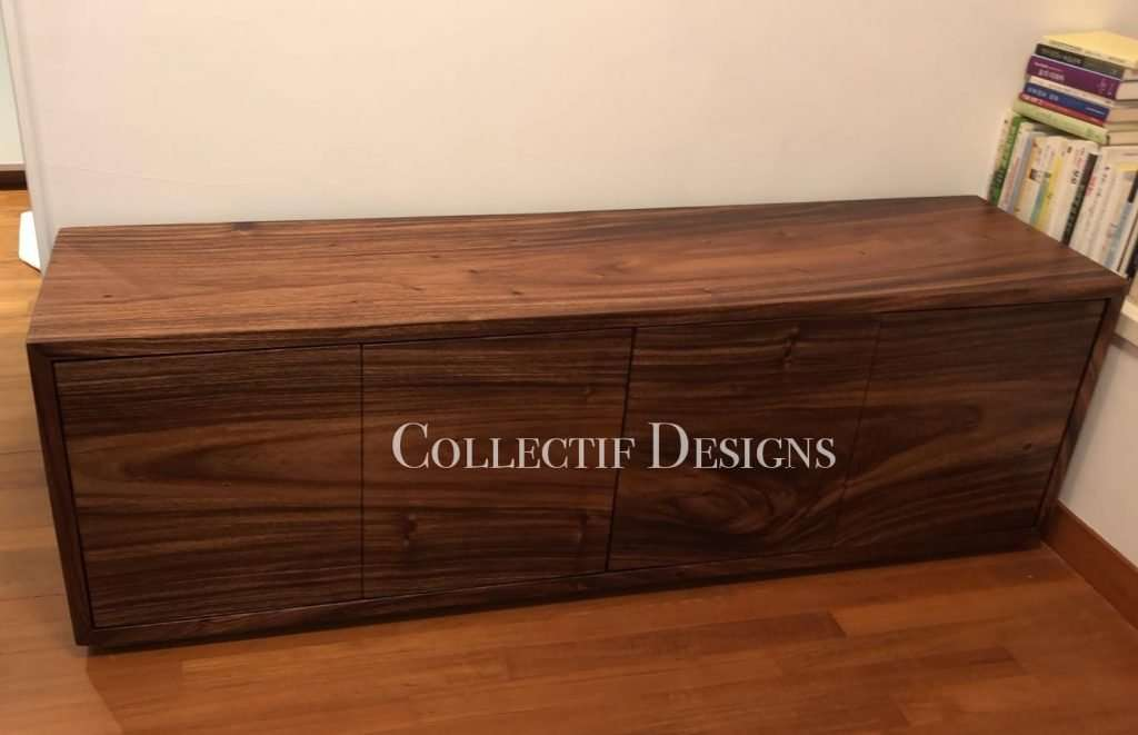 Suar wood TV console by Collectif Designs