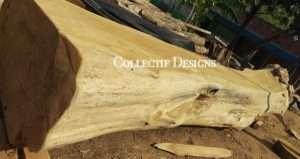 Teak wood log furniture by Collectif Designs