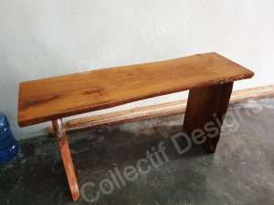 Teak wood table by Collectif Designs delivered to client in Singapore