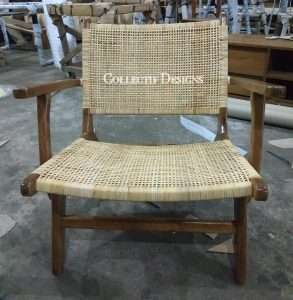 Teak wood chair by Collectif Designs delivered to client in Singapore