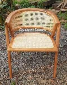 Teak wood rattan chair by Collectif Designs delivered to client in Singapore