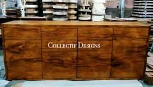 Teak wood cabinet by Collectif Designs delivered to client in Singapore