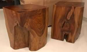 Teak wood stool by Collectif Designs delivered to client in Singapore