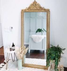 Teak wood mirror by Collectif Designs delivered to client in Singapore