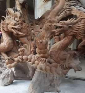 Solid wood carvings by Collectif Designs