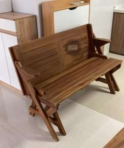 Teak wood table and bench by Collectif Designs delivered to client in Singapore