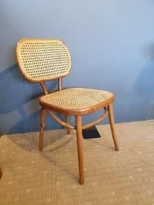 Teak wood rattan chair by Collectif Designs